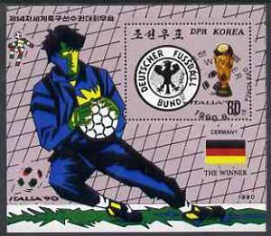 North Korea 1990 World Football Winners (West Germany) m/sheet very fine cto used, SG MS N2980