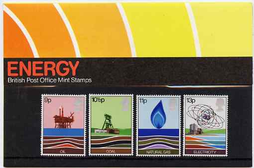 Great Britain 1978 Energy Resources set of 4 in official presentation pack SG 1050-53