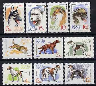 Russia 1965 Hunting & Service Dogs set of 10 unmounted mint, SG 3093-3104, Mi 3020-29*