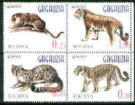 Moldova 1998 WWF (Big Cats) unmounted mint se-tenant block of 4