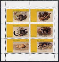 Grunay 1982 Rodents perf set of 6 values (15p to 75p) unmounted mint