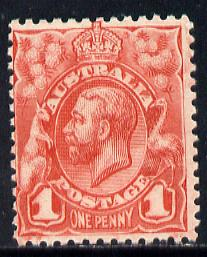 Australia 1913-14 KG5 Head 1d red unmounted mint SG 17