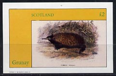 Grunay 1982 Rodents (Echidna) imperf  deluxe sheet (�2 value) unmounted mint, stamps on animals     rodents
