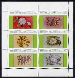 Bernera 1982 Flowers #13 (Camellia, Honeysuckle, etc) perf  set of 6 values (10p to 75p) unmounted mint