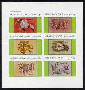 Bernera 1982 Flowers #13 (Camellia, Honeysuckle, etc) imperf  set of 6 values (10p to 75p) unmounted mint