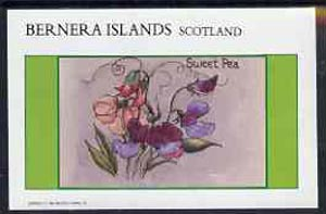 Bernera 1982 Flowers #13 (Sweet Pea) imperf  deluxe sheet (�2 value) unmounted mint