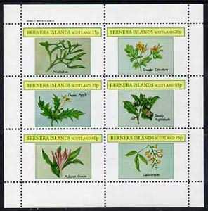 Bernera 1982 Plants #2 (Mistletoe, Thorn Apple, etc) perf set of 6 values (15p to 75p) unmounted mint