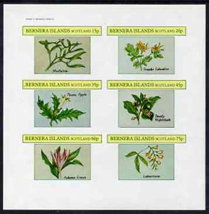 Bernera 1982 Plants #2 (Mistletoe, Thorn Apple, etc) imperf set of 6 values (15p to 75p) unmounted mint