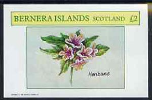 Bernera 1982 Plants #2 (Henbane) imperf deluxe sheet (�2 value) unmounted mint