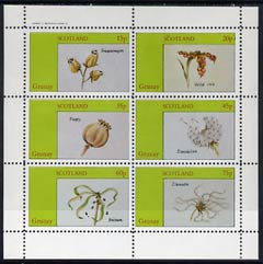 Grunay 1982 Flower Seeds (Snapdragon, Iris, Poppy, etc) perf set of 6 (15p to 75p) unmounted mint