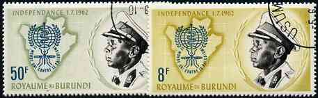 Burundi 1962 Malaria Eradication perf set of 2 fine cto used, SG 38-39*