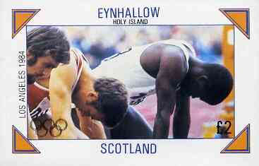 Eynhallow 1984 Los Angeles Olympic Games (Running) imperf deluxe sheet (�2 value) unmounted mint