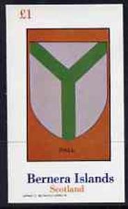 Bernera 1982 Heraldry #2 (Pall) imperf  souvenir sheet (�1 value) unmounted mint