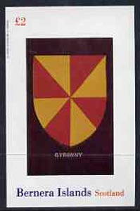 Bernera 1982 Heraldry #2 (Gyronny) imperf  deluxe sheet (�2 value) unmounted mint