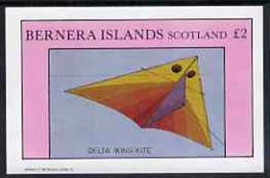 Bernera 1982 Kites (Delta Wing Kite) imperf  deluxe sheet (�2 value) unmounted mint