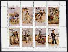 Staffa 1977 Sailor's' Uniforms perf set of 8 values (1p to 50p) unmounted mint