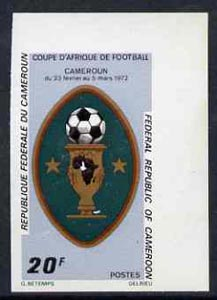 Cameroun 1972 Africa Cup Football Championships 20f (Cup) imperf from limited printing, as SG 635 unmounted mint