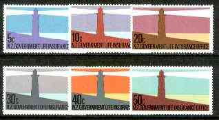 New Zealand 1981 Life Insurance (Lighthouses) set of 6 unmounted mint, SG L64-69, stamps on lighthouses, stamps on rescue