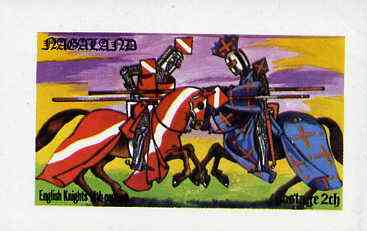Nagaland 1977 Military Uniforms (14th cent Knights) imperf souvenir sheet (2ch value) unmounted mint