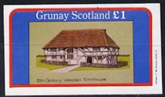 Grunay 1982 Architecture (15th Cent 'Wealden' Farmhouse) imperf souvenir sheet (�1 value) unmounted mint