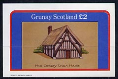 Grunay 1982 Architecture (14th Cent Cruck House) imperf deluxe sheet (�2 value) unmounted mint