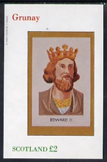 Grunay 1982 Royalty (Edward II) imperf deluxe sheet (�2 value) unmounted mint