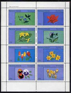 Bernera 1982 Flowers #14 (Primrose, Daffodill, Pansies, etc) perf  set of 8 values (15p to 60p) unmounted mint