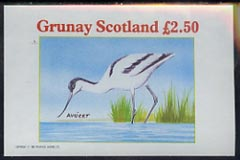 Grunay 1981 Sea Birds (Avocet) imperf deluxe sheet (�2.50 value) unmounted mint