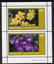 Eynhallow 1981 Flowers #04 perf  set of 2 values (40p & 60p values) unmounted mint