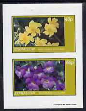 Eynhallow 1981 Flowers #04 imperf  set of 2 values (40p & 60p values) unmounted mint