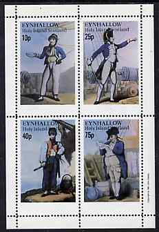 Eynhallow 1981 Naval Uniforms complete perf  set of 4 values (10p & 75p) unmounted mint
