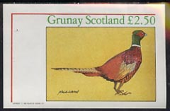Grunay 1982 Birds #03 (Pheasant) imperf deluxe sheet unmounted mint (�2 value)