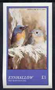Eynhallow 1981 Birds #19 imperf souvenir sheet (�1 value) unmounted mint