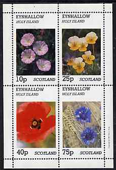 Eynhallow 1981 Flowers #05 perf  set of 2 values (40p & 60p values) unmounted mint, stamps on flowers, stamps on violas