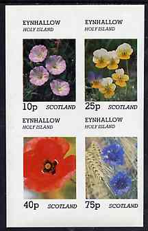 Eynhallow 1981 Flowers #05 imperf  set of 2 values (40p & 60p values) unmounted mint