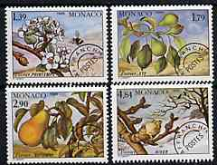 Monaco 1989 Seasons of the Pear Tree set of 4 pre-cancels unmounted mint, SG 1952-55, Mi 1924-27