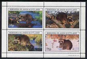 Bernera 1981 Racoons perf  set of 4 values complete (10p to 75p) unmounted mint