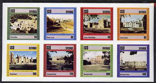 Iso - Sweden 1978 25th Anniversary of Coronation imperf set of 8 values (Royal Castles & Palaces) unmounted mint