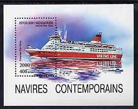 Madagascar 1994 Ships (Car Ferry) unmounted mint m/sheet, Mi BL 264