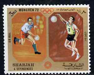 Sharjah 1972 Handball & Volleyball (3R) from Olympic Sports perf set of 10 unmounted mint, Mi 951
