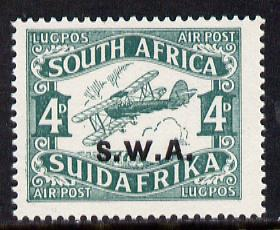 South West Africa 1930 Air 4d (later printing) unmounted mint, SG 70b