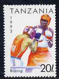 Tanzania 1993 Boxing 20s from Summer Sports set of 7, SG 1506,  Mi 1467 unmounted mint