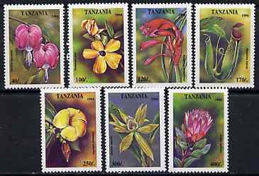 Tanzania 1994 Tropical Flowers set of 7 unmounted mint, SG 1917-23, Mi 1880-86*