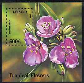 Tanzania 1994 Tropical Flowers unmounted mint m/sheet, SG MS 1924, Mi BL 263