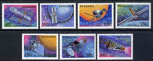 Tanzania 1994 Space Research unmounted mint set of 7, SG 2050-56, Mi 2017-23
