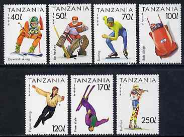 Tanzania 1994 Lillehammer Winter Olympic Games unmounted mint set of 7, SG 1737-43, Mi 1705-11*