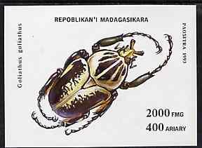 Madagascar 1993 Beetles unmounted mint m/sheet, Mi BL 254