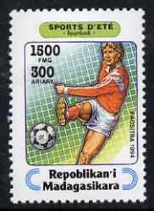 Madagascar 1994 Football 1500f + 300 from Sports set of 7, Mi 1715