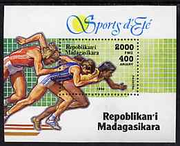 Madagascar 1994 Sports (Sprinting) unmounted mint m/sheet, Mi BL 262