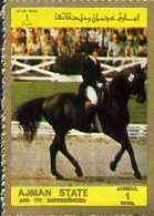 Ajman 1972 Dressage 1R from Munich Olympics perf set of 16, unmounted mint